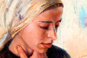 Second Adam (Detail of Younger Virgin Mary). Oil on. Oil. 2005-2009.