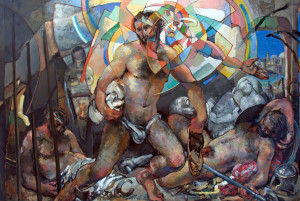 The Dreams of Men (Peter Led From Prison). Oil on panel. 2011. 8 X 12 ft.