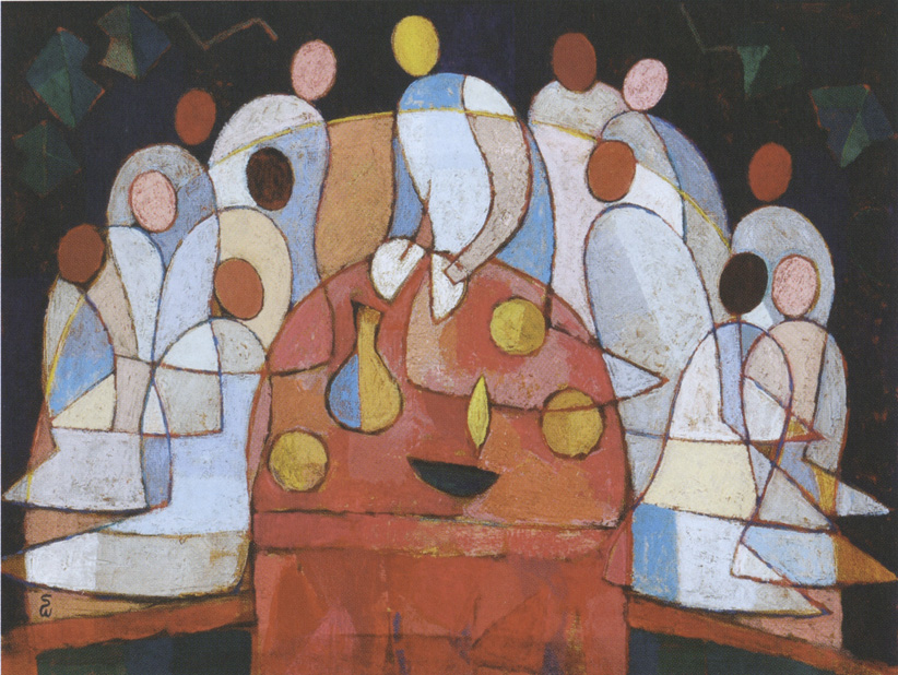 PLATE 4. Soichi Watanabe. Japan. <b>We Are One in Jesus Our Lord,</b> <i>2008. Acrylic on canvas. 23 ½ x 31 ½ inches.</i>