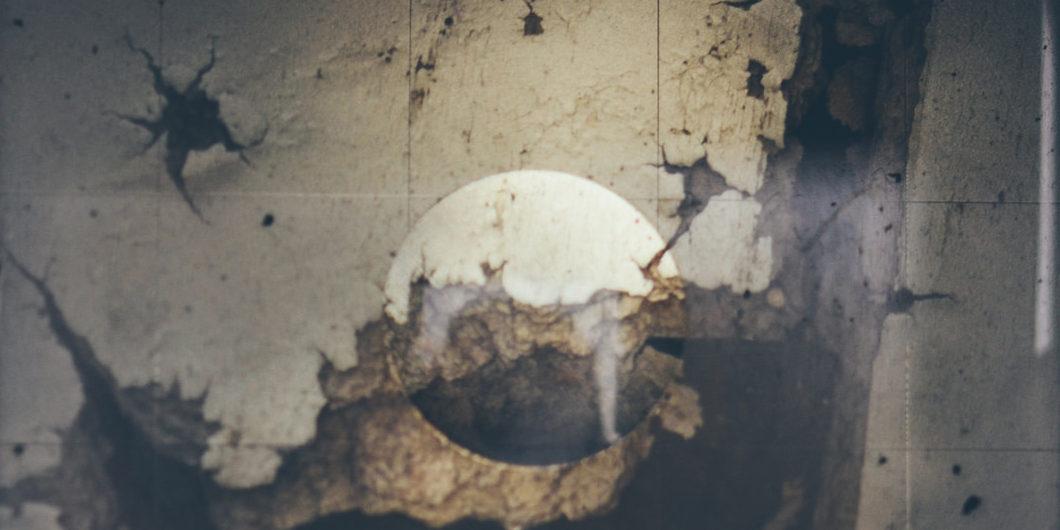 crumbling wall camera old