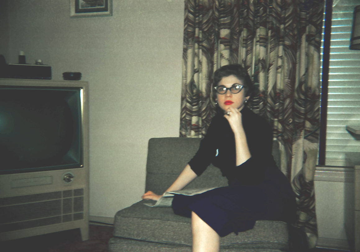 woman 1950s tv