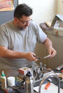 Glen Workshop Aubrey Allison man making art