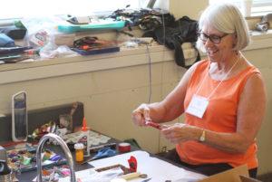 Glen Workshop Aubrey Allison woman making art 2