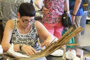 Glen Workshop Aubrey Allison woman making art