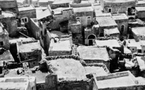 overlook of rooftops in Jerusalem in 1940.