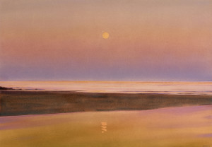 Plate 10. David Dewey. Full Moon Tide, 2010. Watercolor and gouache. 27½ x 40 inches. Caldbeck Gallery.