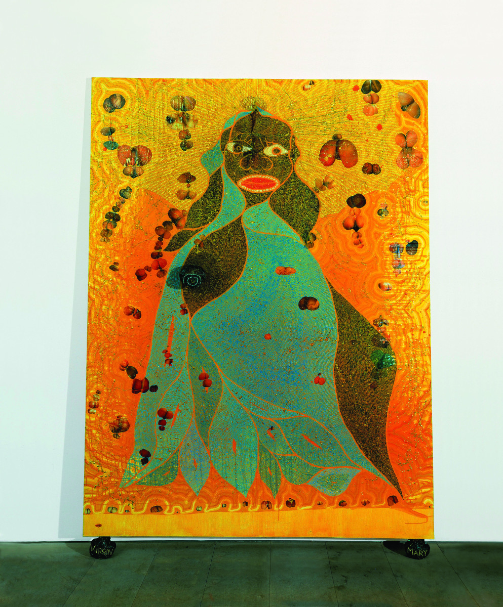 chris ofili afrodizzia Chris ofili, afrodizzia (first version, 1996) however, by and large, the work that is shocking and sensational to the public of indignant egg chuckers is aggressively modern, rather than transgressively anything else.
