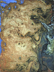 Plate 17. Matthew Poindexter. Hell, 2006. Oil and enamel on paper. 22 ½ x 16 inches.