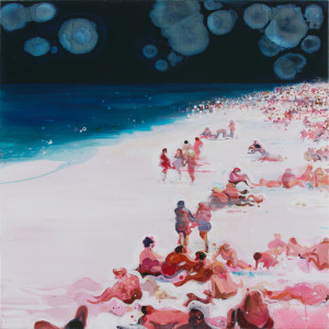 PLATE 13. Susie Hamilton. Beach, 2004. Acrylic on canvas. 52 x 52 inches.