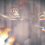 light woman shadow rainbow