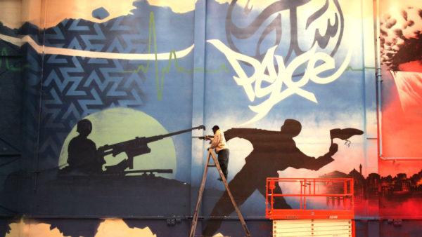 mohammed ali aerosol arabic mural graffiti