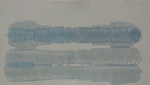 PLATE 12. Linnéa Spransy. Accretion Stack, 2004. Ink on paper. 18 x 36 inches.