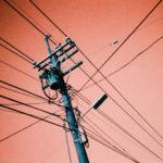 telephone pole wires