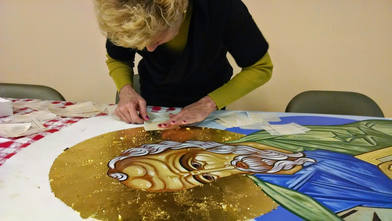 Artist Paints Like Iconography