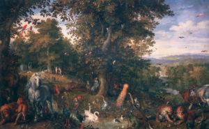 The Garden of Eden *oil on copper *50.3 x 80.1 cm *1612