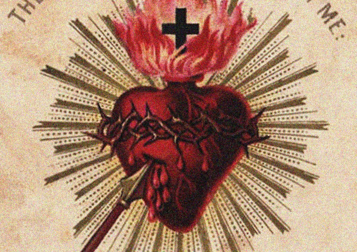 Sacred Heart Paris Holy Card Image Journal