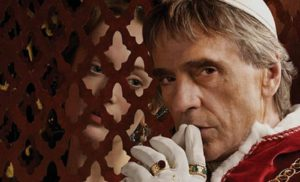 Image of Jeremy Irons in the television series The Borgias as the Pope