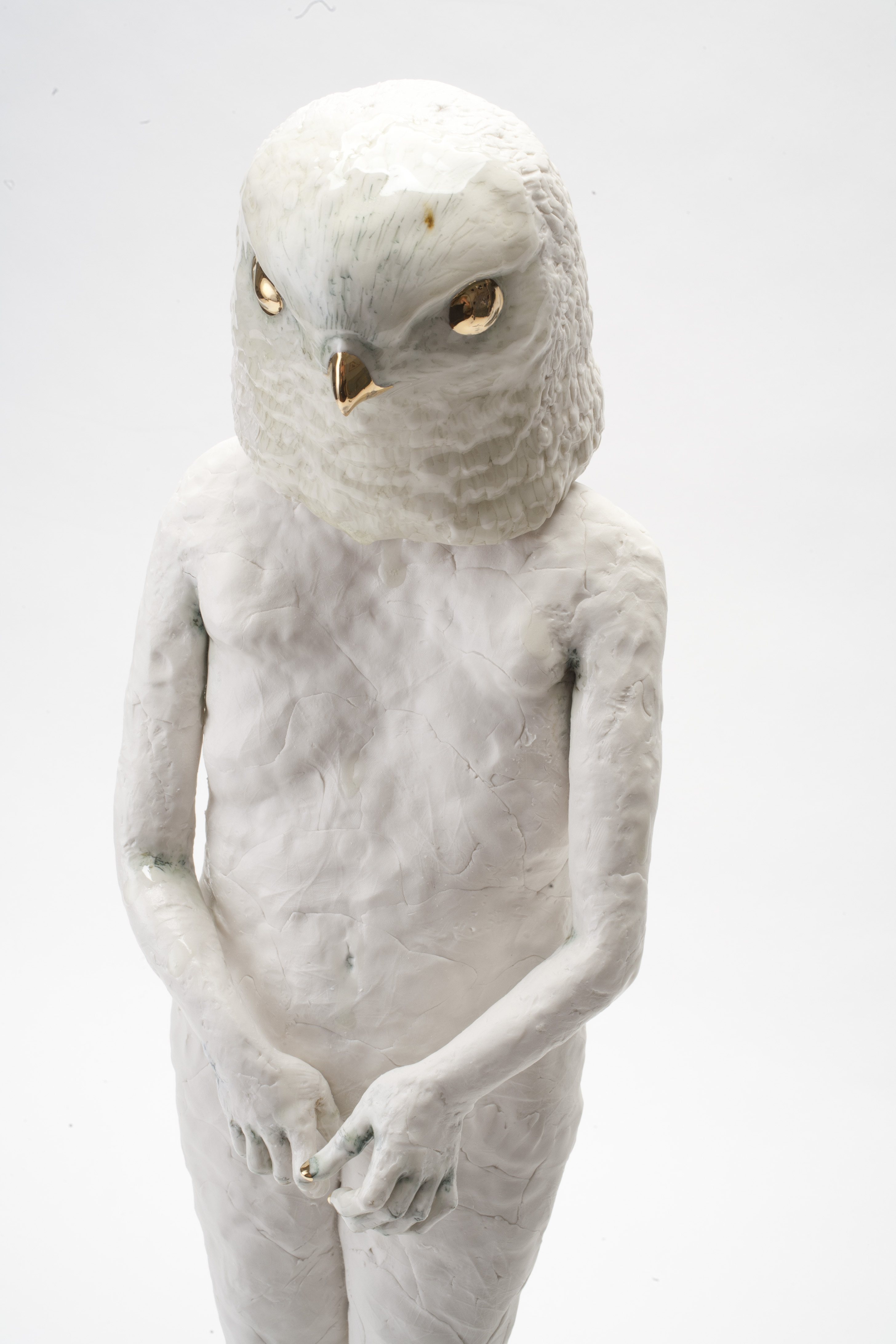 Bird Figure, 2013. Porcelain. 23 1/2 Inches High. All Photos: Dewi Tannatt  Lloyd.