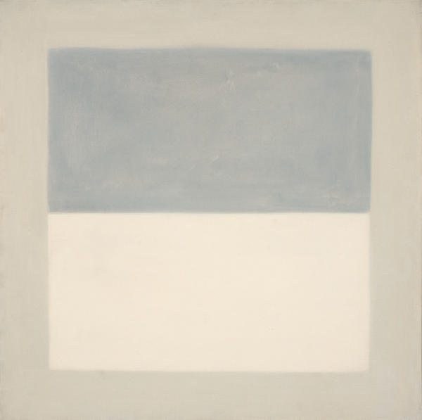 "painting ""Rain Study"" by Agnes Martin"