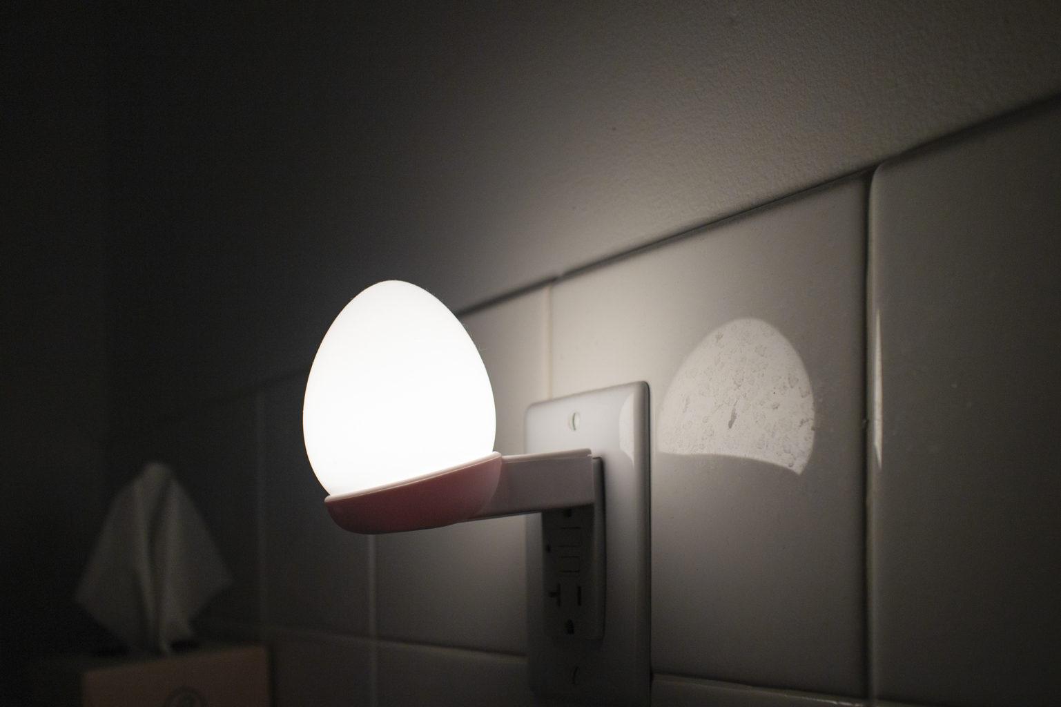 "Week 5: <em>Bathroom</em>, ""Egg safety light, 2020,"" Joyce Yu-Jean Lee, May 8, 2020"