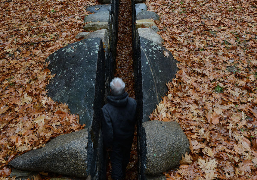 Andy Goldsworthy. Passage, 2015. Granite. New Hampshire. Copyright of the artist.