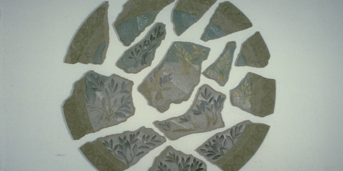 PLATE 8. Stephen Cox. Tondo: Ascension, 1983. Peperino stone with egg tempera. 158 x 158 x 2 inches. Collection of the Southbank Centre, London. Photographed by the artist at the Hayward Gallery.