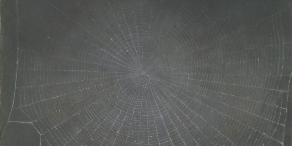 Vija Celmins. Web, 1992. Oil on canvas. 18 ¾ x 22 inches.